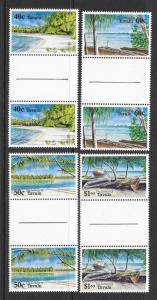TUVALU Sc#658-661 Complete Gutter Pair Set Mint Never Hinged