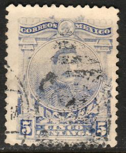 MEXICO 622, 5cents PERFORATED, USED. F-VF  (369)