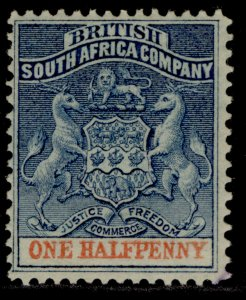 RHODESIA QV SG18, ½d dull blue & vermilion, LH MINT.