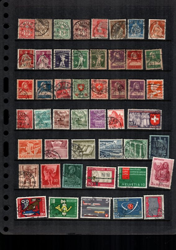 Switzerland  Mint hinges and used lot of 47