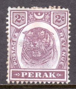 Malaya (Perak) - Scott #48 - MH - Heavy old-time hinge, regummed - SCV $3.50