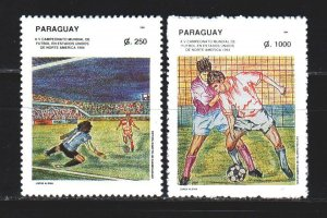 Paraguay. 1994. 4656-58 from the series. Football. MNH.
