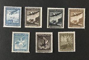 Chile 1944-45  # C92-98, MNH, SCV $1.75