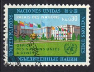 United Nations Geneva  #4  1969 cancelled  30 c