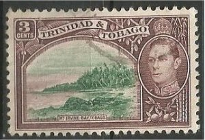 TRINIDAD AND TOBAGO, 1941, used 3p, George VI  Scott 52A