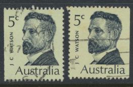 Australia  Sc# 452  John Watson  1969 Used x2 Booklet stamps see details