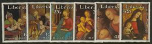 Liberia 975-80 MNH Christmas, Art