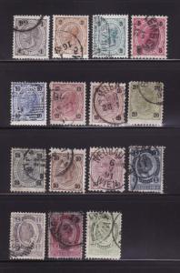 Austria 51-65 Set U Emperor Franz Josef (B)