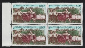 New Caledonia Tractor Arrival of Northern Colonists 180f Block of 4 2006 MNH