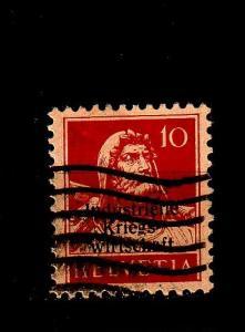 SCHWEIZ SWITZERLAND [DienstKrieg] MiNr 0004 I ( O/used ) [01]