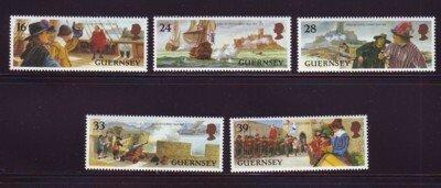Guernsey Sc 515-19 1993  Siege of Castle Cornet stamp set mint NH