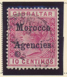 Great Britain, Offices In Morocco Stamp Scott #2, Used - Free U.S. Shipping, ...