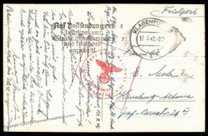 3rd Reich 1940 Germany Feldpost Luftwaffe Flieger Ausbildungs Regiment 14  79657