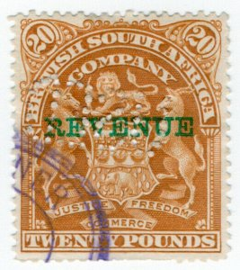 (I.B) Rhodesia/BSAC Revenue : Duty Stamp £20