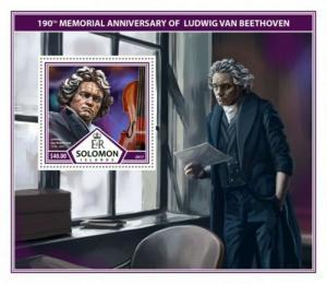 Solomon Islands - 2017 Beethoven - Stamp Souvenir Sheet - SLM17307b