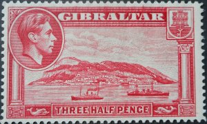 Gibraltar 1938 One and a HalfPence p14 SG 123 mint
