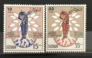 Sudan 1960 #128-9 World Refugee Year, MNH, CV $1