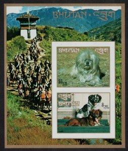 Bhutan Lhasa Apso Damci Dogs MS Imperf SG#MS276 MI#Block 54B