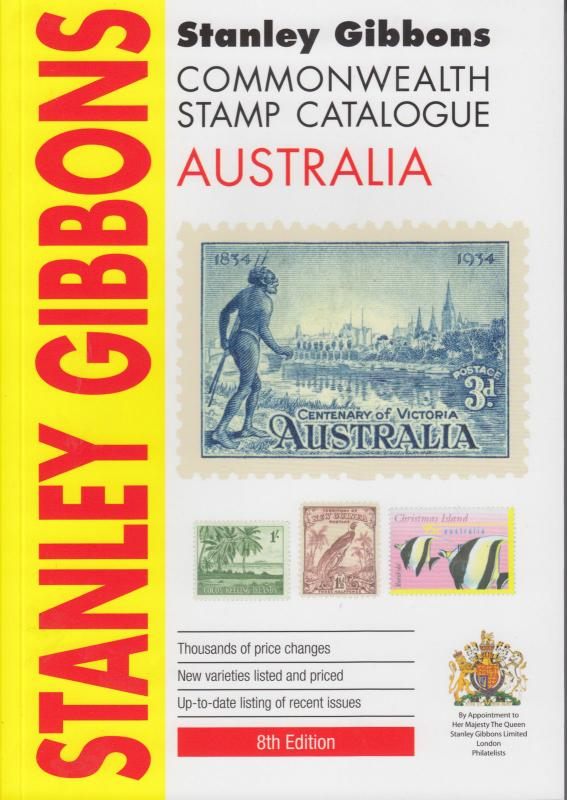 Stanley Gibbons Australia Stamp Catalogue, 2013 8th edition, in color, NEW