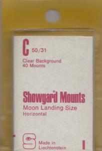SHOWGARD CLEAR MOUNTS C 50X31 (40) RETAIL PRICE $3.95