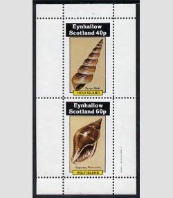 Eynhallow 1982 (Scotland) SHELLS Sheet 2 values Perforated Mint (NH)