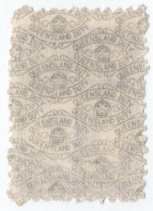 (I.B) Australia - Queensland Revenue : Adhesive Duty 1c (1940)