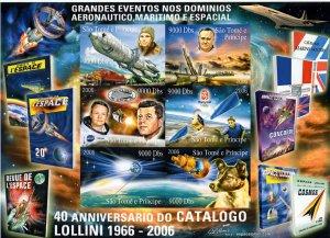 Sao Tome and Principe 2006 Gagarin/Table-Tennis/Beijing Olympics Shlt(6) Imperf