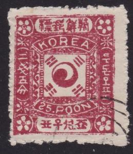 KOREA An old forgery of a classic stamp.....................................2358