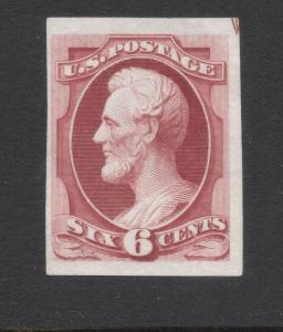 #148P-3 Carmine - Engraved Plate Proof on India Paper