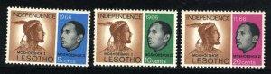 Lesotho #2-4  Mint 1966 PD