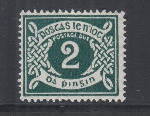 Ireland Sc J3 MLH. 1925 2p dark green Postage Due, fresh, VLH