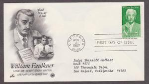 2350 William Faulkner ArtCraft FDC with neatly typewritten address