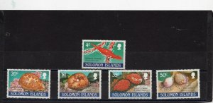 SOLOMON ISLANDS 1990 MARINE LIFE/SHELLS SET OF 5 STAMPS MNH