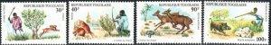 Togo 909-10, C250-51 - Mint-NH - Hunting / Animals (Cpl) (1975) (cv $6.85)