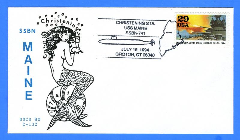 uss maine ssbn-741 christening july 16, 1994