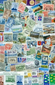 Iceland.  Lot. 150 Different With Cancel.