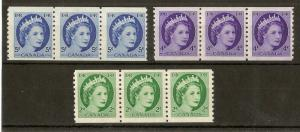 Canada 1954 Coil Stamps SG469-471 MNH/MH