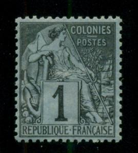 French Colonies 1881 #46 MH SCV(2018)=$5.50