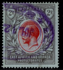 EAST AFRICA and UGANDA GV SG54, 2r red & black/blue, USED.