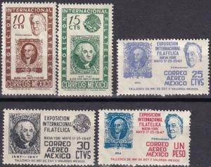 Mexico #826-7, C167-9 MNH CV $4.60 (A19794)