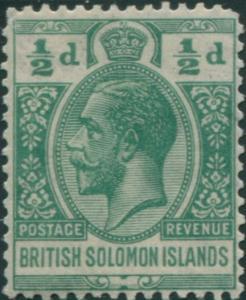 Solomon Islands 1922 SG39 ½d green KGV MNH