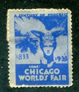 US 1931 Chicago World Fair Label. MNG. Free Shipping.