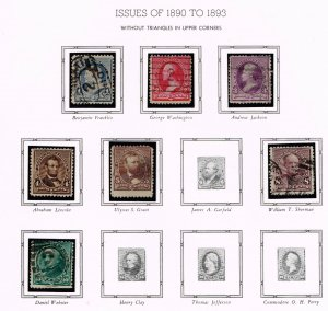 US STAMP 19th OLD USED STAMP COLLECTION LOT #S2