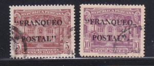 Peru 392-393 U Overprints
