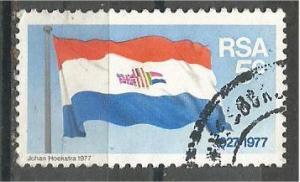 SOUTH AFRICA, 1977, used 5c, Flag, Scott 499
