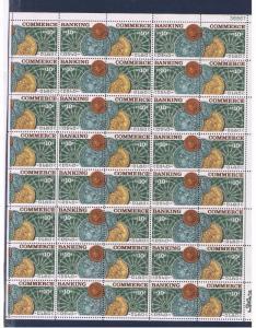 #1577-1578 MVFNH OG Sheet of 40 Banking & Commerce