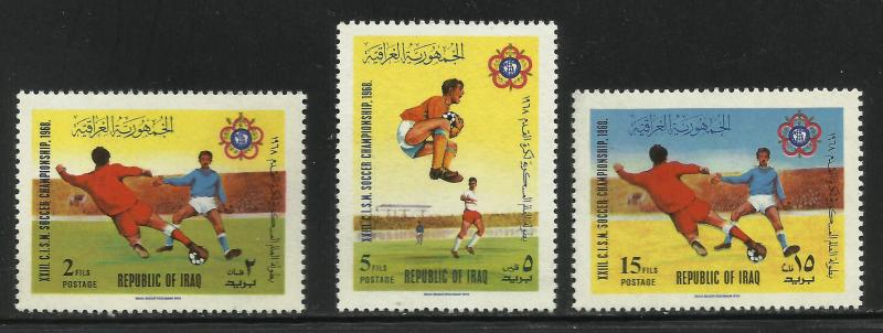 Iraq 1968 Scott# 473-475 MNH (high value missing)