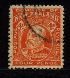 NEW ZEALAND 1909 EVII 4d orange fine used .................................75131