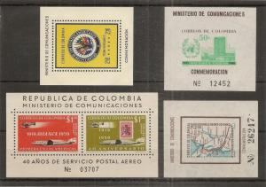 Colombia 1959-62 Min.Sheets MNH