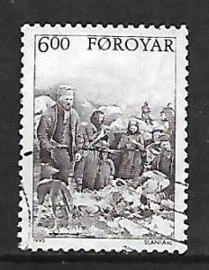 FAROE ISLANDS, 291, USED, PEASANTS FLEECING SHEEP